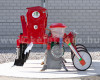 Vetőgép, 3 soros, átlátszó magtartállyal (kistraktorhoz) AKCIÓS ÁR! (6)