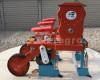 Vetőgép, 3 soros, átlátszó magtartállyal (kistraktorhoz) (2)