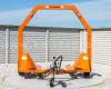 Bálaszállító japán kistraktorokhoz, hidraulikus emeléssel (8)