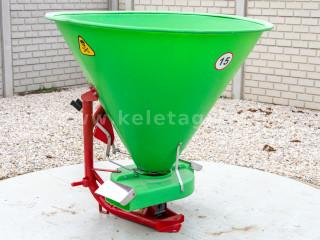 Műtrágyaszóró 500 literes (műanyag tartályos), sorszóró adapterrel (1)