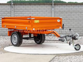 Pótkocsi, ráfutófékkel, 3 irányba billenthető, japán kistraktorokhoz, Komondor  SPK-1500/RF (1)