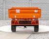 Pótkocsi, ráfutófékkel, 3 irányba billenthető, japán kistraktorokhoz, Komondor  SPK-1500/RF (4)