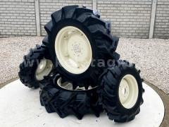 traktor szerelt kerék készlet (2db 9,5x16 és 2db 13,6x26 gumi felnin) - Japán Kistraktorok -